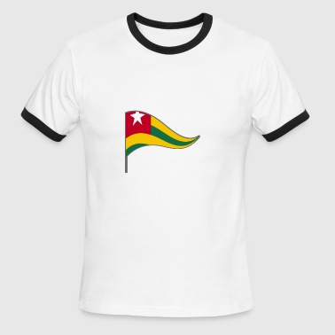 Togo Africa Flag Banner Flags Ensigns repuplic - Men's Ringer T-Shirt