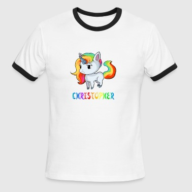 Christopher Unicorn - Men's Ringer T-Shirt