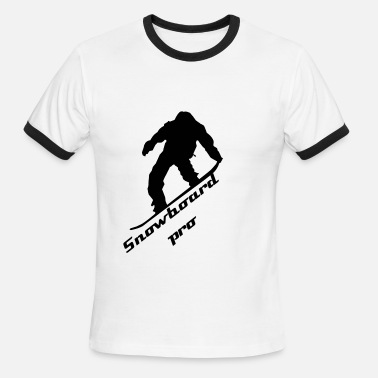 Thermo Snowboard pro thermo mug - Men's Ringer T-Shirt