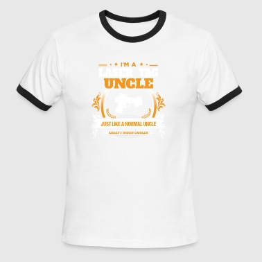 Laser Tag Uncle Shirt Gift Idea - Men's Ringer T-Shirt