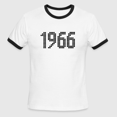 1966, Numbers, Year, Year Of Birth - Men's Ringer T-Shirt