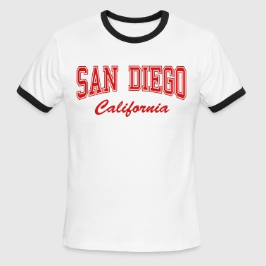 San Diego California - Men's Ringer T-Shirt