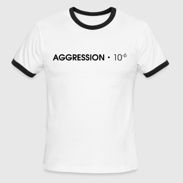 AGGRESSION・10^-6 - Black - Men's Ringer T-Shirt