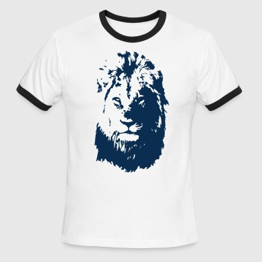 Lion's face - Men's Ringer T-Shirt