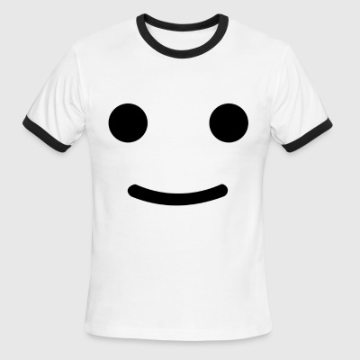 Happy Face - Men's Ringer T-Shirt