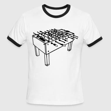 Football Table - Foosball Table - Men's Ringer T-Shirt