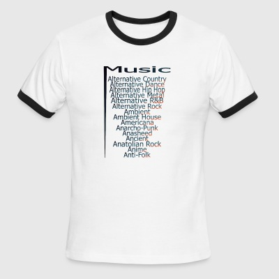 Music from A Z part3 - Men's Ringer T-Shirt