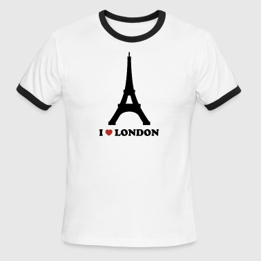 I Love London (Paris) - Men's Ringer T-Shirt