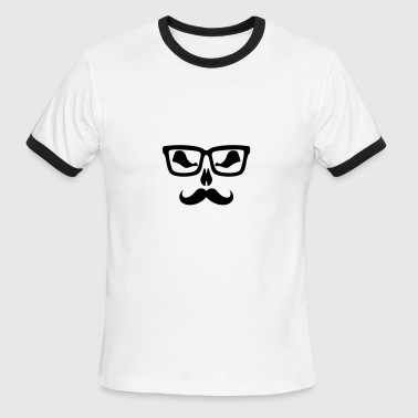Moustache glasse scary - Men's Ringer T-Shirt