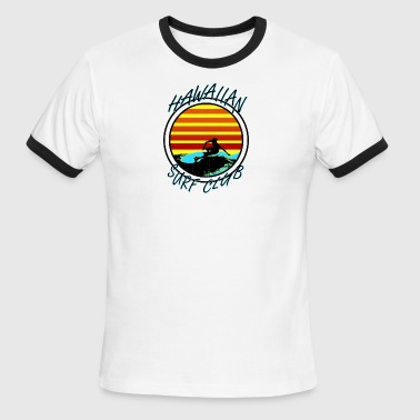 Hawaiian Surf Club - Men's Ringer T-Shirt