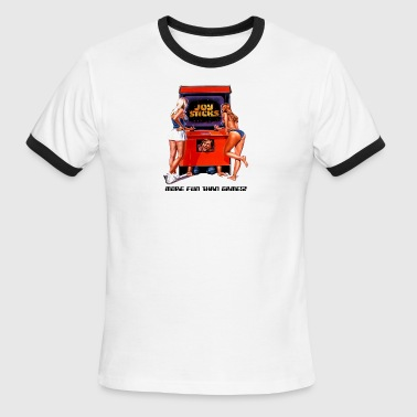 Joysticks Arcade - Men's Ringer T-Shirt