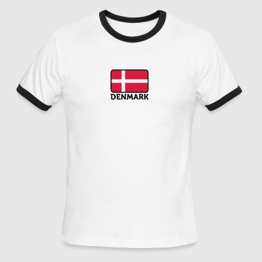 National Flag Of Denmark - Men's Ringer T-Shirt