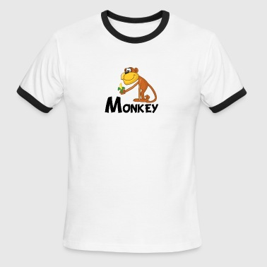 Cartoon Monkey - Men's Ringer T-Shirt