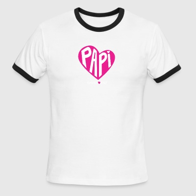 Pink Papi Love Official David Ortiz Shirt - Men's Ringer T-Shirt