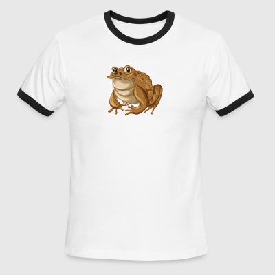frog reptile wildlife vector cartoon illustration - Men's Ringer T-Shirt