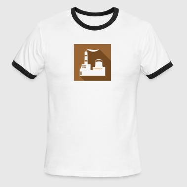 flat factory vector - Men's Ringer T-Shirt