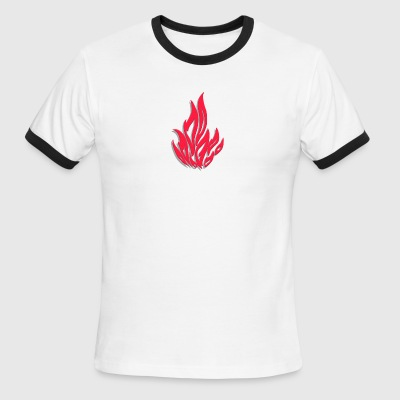 Flame - Men's Ringer T-Shirt