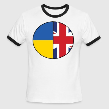 British and Ukrainian Flags National Pride - Men's Ringer T-Shirt