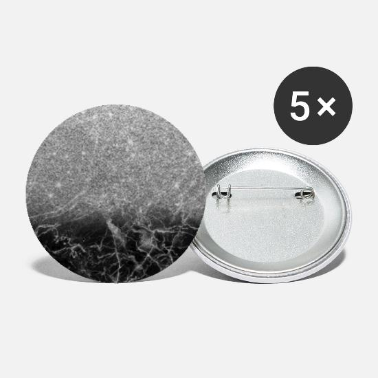 Female Buttons - Black Marble and Silver Ombre Glitter - Large Buttons white