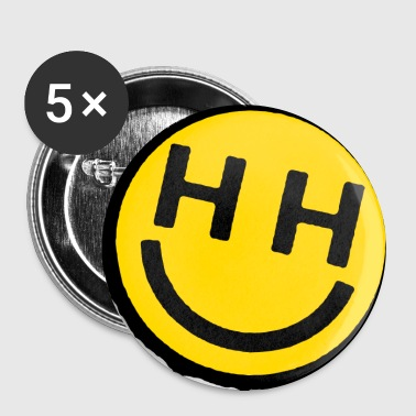 happy hardcore smiley face - Large Buttons
