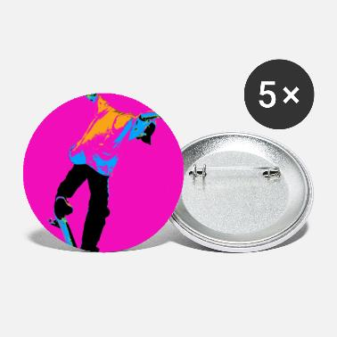 Flipping the Deck Skateboarding Stunt - Large Buttons