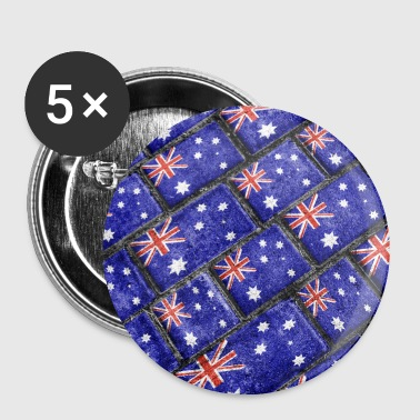 Australia Flag Pattern - Large Buttons