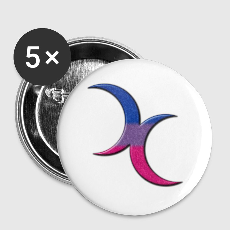 Bisexual Pride Crescent Moons - Large Buttons