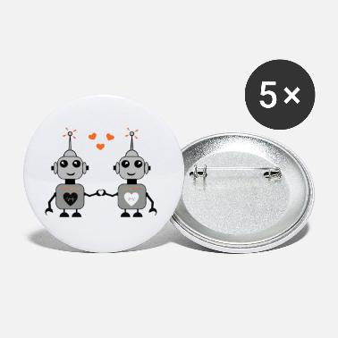 Couples Robot Couple - Large Buttons