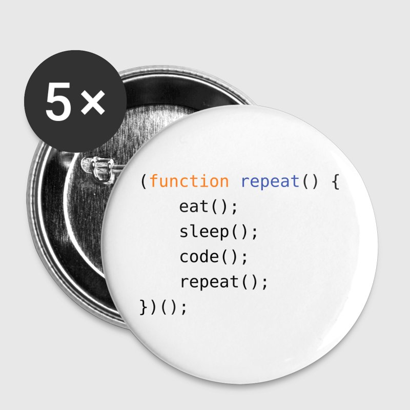 Eat, Sleep, Code, Repeat - Large Buttons