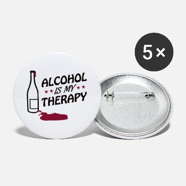 Wine Wine therapy red wine wine wine bottle - Large Buttons