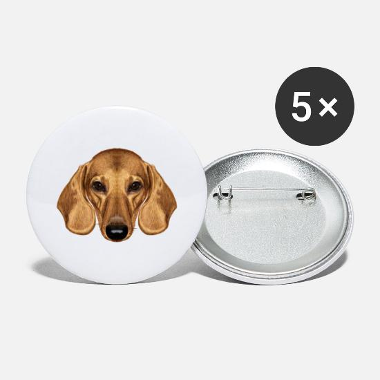 Dog Buttons - Dog breed Dog love Dachshund - Large Buttons white
