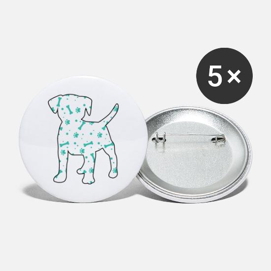 Dog Head Buttons - Beagle dog breed paw gift - Large Buttons white