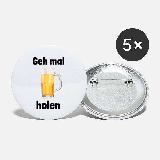Craft Beer Buttons - Geh mal Bier holen - Large Buttons white