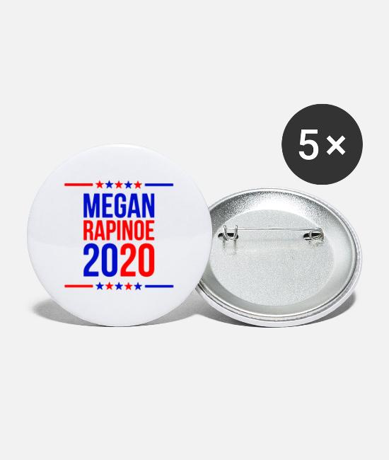Megan Buttons & Pins - megan rapinoe marchandise - Large Buttons white