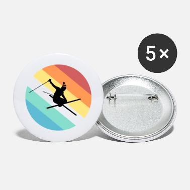Skiing - Large Buttons
