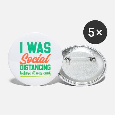 Funny Introvert Shirts | Funny Social Distancing - Large Buttons