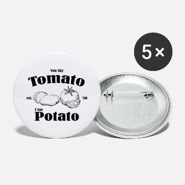 Vegetable Tomato Potato Vegetable Fruits Vegan Gift - Large Buttons