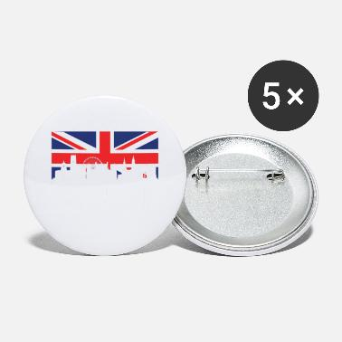 Nottingham Flag British Flag Nottingham Skyline - Large Buttons