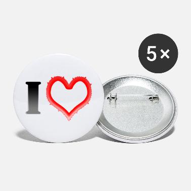 I Heart I Heart... - Large Buttons