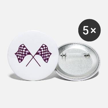 Racing Checkered Flags - Large Buttons