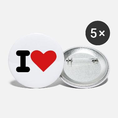 I Heart i heart - Large Buttons