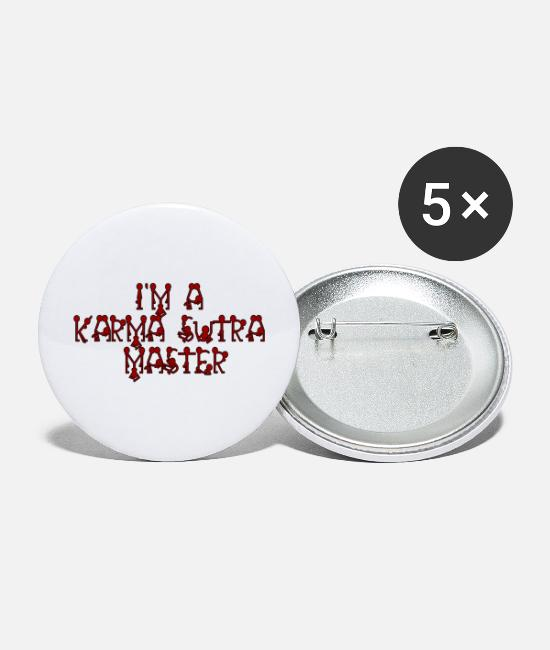 Geek Buttons & Pins - Karma sutra - Large Buttons white