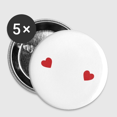 two hearts - Large Buttons