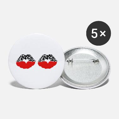 Deadly Sexy Vampire Luscious Red Lips Design For ♥ټXxSexy Tattooed Luscious Sensual Lips xXټ♥ - Large Buttons