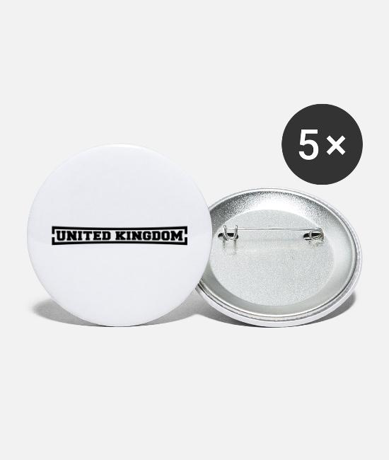 English Buttons & Pins - United Kingdom - Large Buttons white