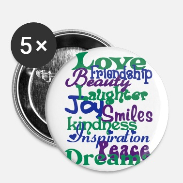 Wonderful Words - Buttons large 2.2'' (5-pack)