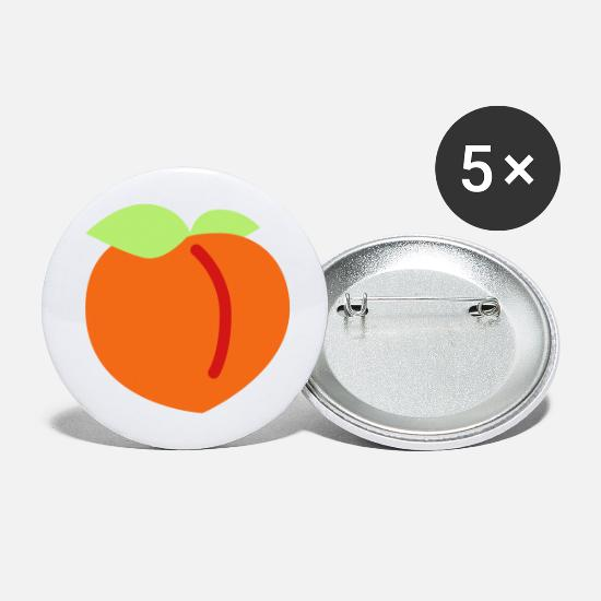 Peach Buttons - Peach Emojis - Large Buttons white