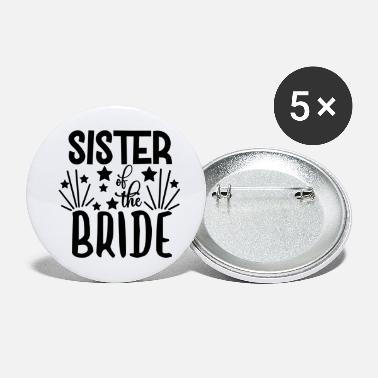 Bachelor love loversSister Of The Bride - Wedding Design - Large Buttons