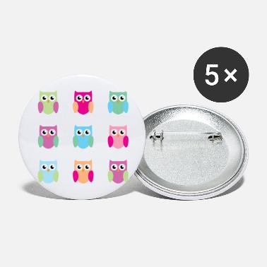 9 owls - Large Buttons