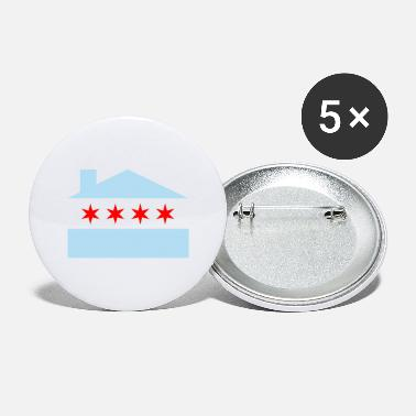 Chicago House Flag - EDM - Large Buttons